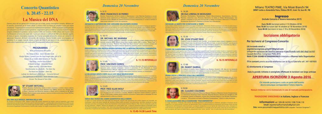 Programma 20 Novembre